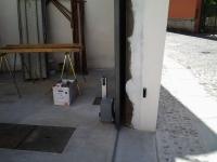 Dettaglio cancello con fotocellula interna ed esterna