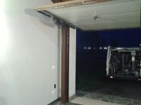 porta garage basculante aperta
